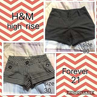 bundle shorts H&M/Forever21