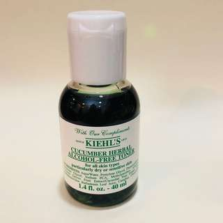 Kiehl's cucumber herbal alcohol-free toner 40 ml.