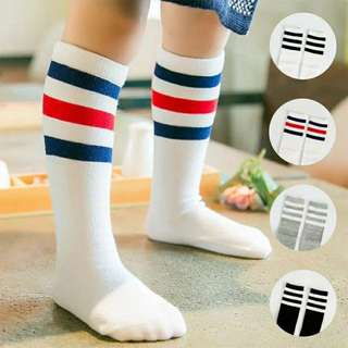 Baby Kids Boy Girl Long Socks Stripes