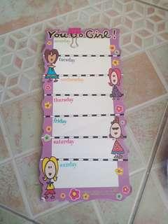 Magnetic List Pad