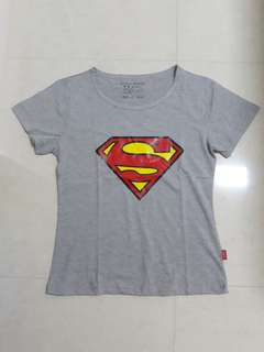 📮 FREE DELIVERY 📮 Women 👩 Superman T-Shirt (Grey) 👩