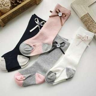 Knee High Ribbon Stockings Socks