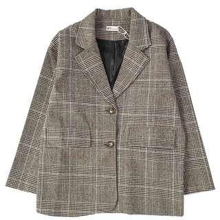 Checked jacket Korea