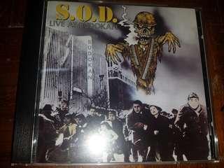 Music CD: S.O.D. –Live At Budokan - Thrash Metal, Hardcore