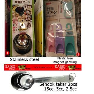 Japan Quality - Sendok Takar 3pcs Measuring Spoon