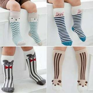 High Long Socks Cute Animal Stripes
