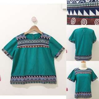 Green ethnic top