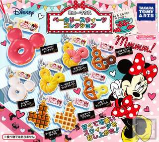 Minnie Mouse bakery sweets collection Disney keychain Gachapon/ Gashapon from Japan