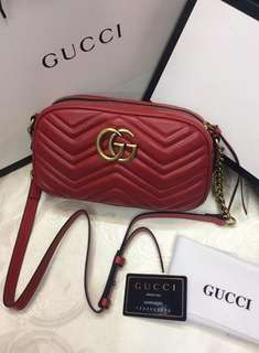 Authentic Gucci Marmont Mini quilted Leather Bag