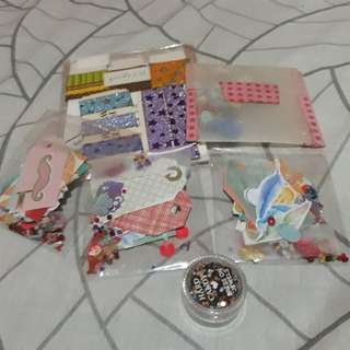 Design Materials Packs Washi Samples Stickers Sequins Crystals