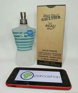Parfum jean paultier le beau male original 100 % tester + box