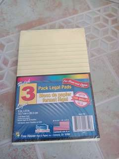3 Ruled Legal Pads