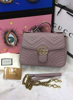 AUTHENTIC GUCCI MARMONT LEATHER BAG