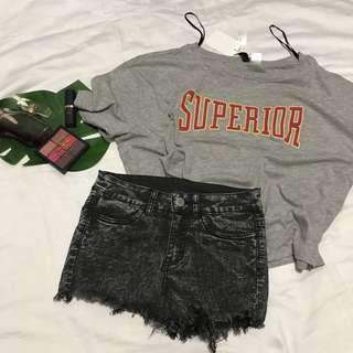 Branded loose oversized H&M top