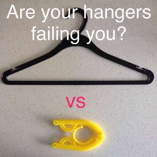 Magix Foldable Clothes Hangers for Travel & Home 3pc/set