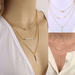 Ulzzang layered necklace (RTP: $15)
