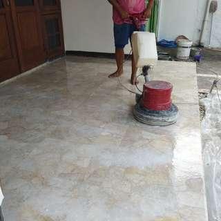 Jasa poles lantai marmer, tegel, teraso, granit, keramik