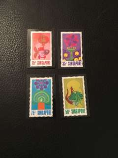 1972 Singapore festival um mint stamps set fresh gum no tone