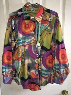 80s multicolour shirt