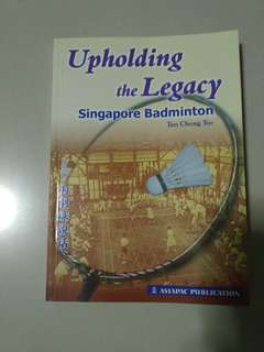 Book- - Uploading the Legacy SG badminton - GIVING AWAY *Relative new*
