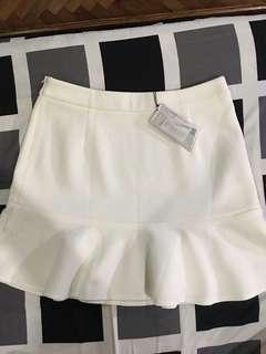 Zalora BNWT white skirt