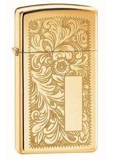 Zippo Slim Lighter Venetian (Gold)