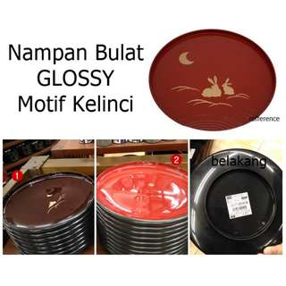 Japan Quality - Nampan Bulat Glossy 2 warna