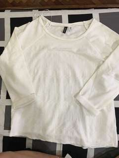 NEW Divided White L/S Top