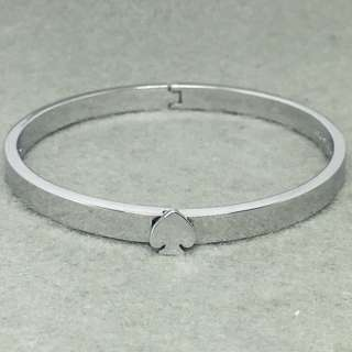 Kate Spade New York Sample Bangle 銀色開口手環 直徑5.6 cm