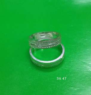 Genuine 925 Italy silver Couple ring