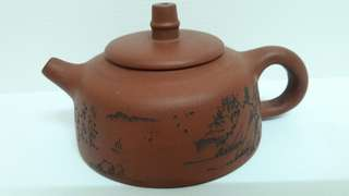 Classic Chinese Drawings Tea Pot