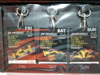 Formula 1 one 2008 Singapore 1st Night Race tickets , Newspapers