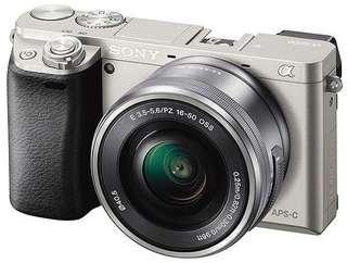 Sony Alpha A6000 Kit 16-50MM OSS SILVER ( Garansi Resmi )