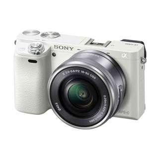 Sony Alpha A6000 Kit 16-50MM OSS White ( Garansi Resmi )