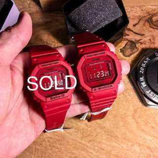 DW-5635C G-Shock 35th Anniversary RED OUT Edition