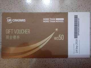 UA cash coupon
