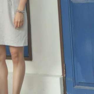 🚚 ERIS.A韓國氣質灰洋裝