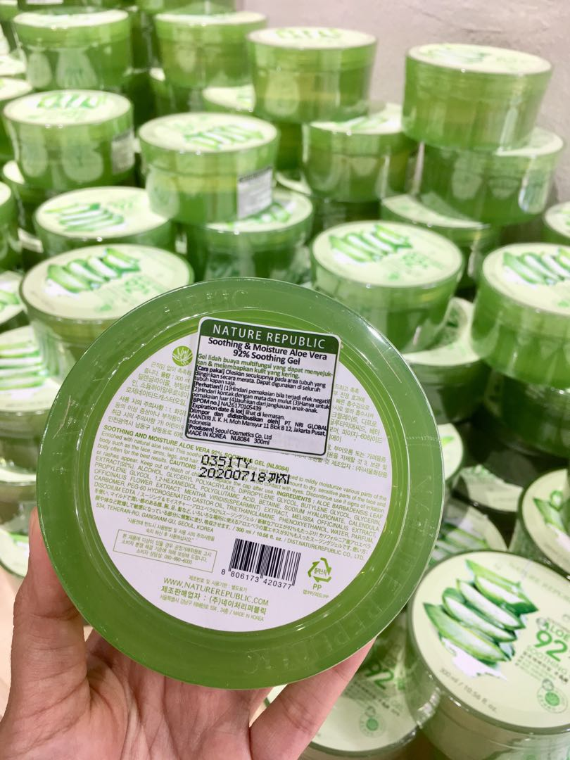 Ada Label Bpom Nature Republic Indonesia Health Beauty Skin Nr Aloe Shoothing Gel Republik Vera 300ml Bath Body On Carousell