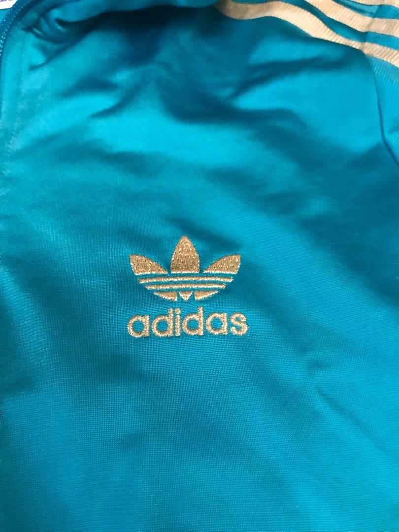 Adidas Originals Track Jacket GreenGold Ladies, Women's