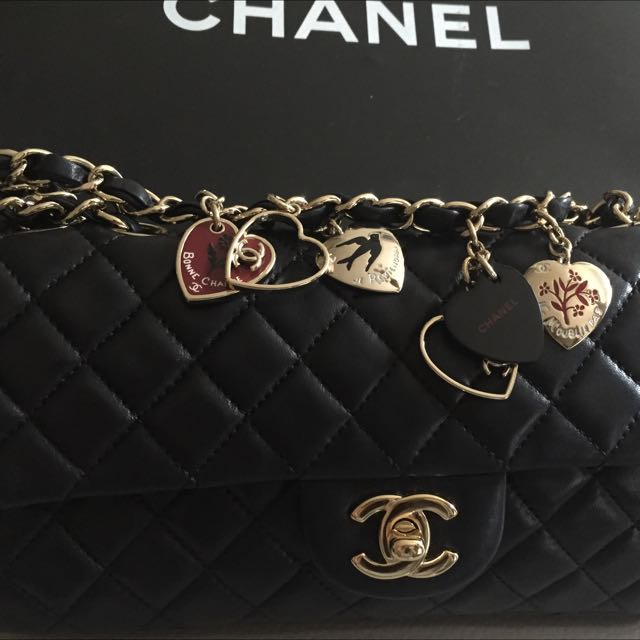 7c36ce941037 Authentic Chanel Valentines Limited Edition Charm Bag, Luxury on ...