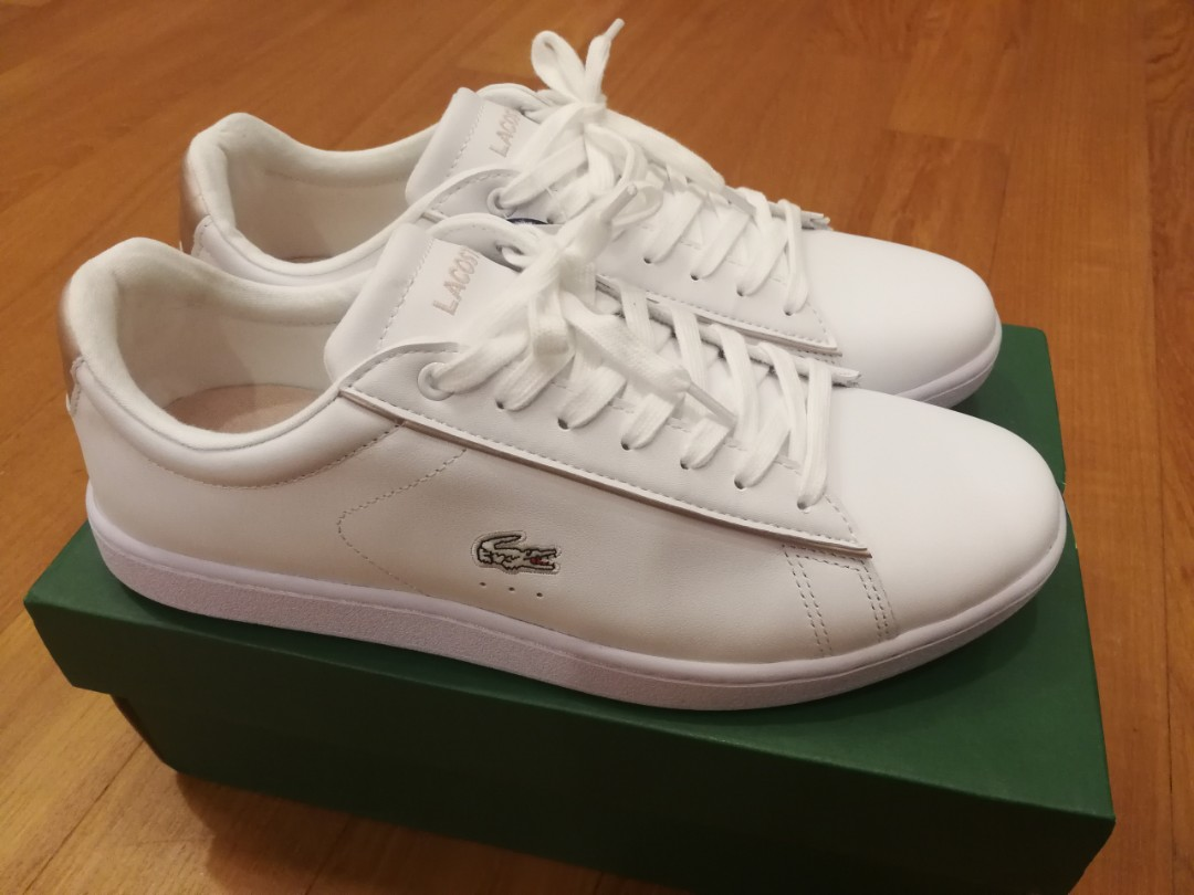 b00d2e919 Authentic LACOSTE Carnaby Evo 217 2 White Light Pink shoe sneaker ...