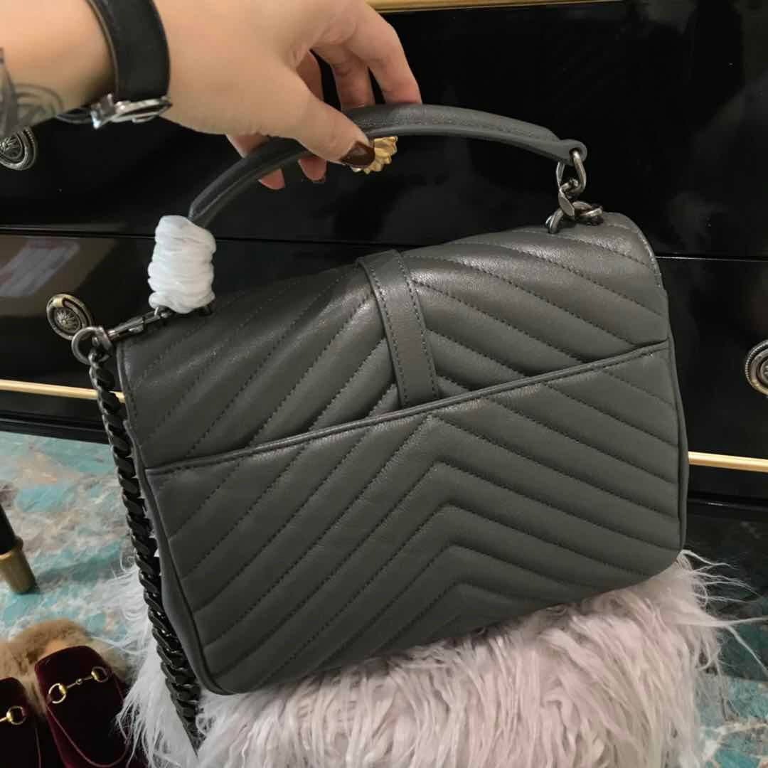 38f81f29960f ysl saint laurent collège medium quilted leather cross body bags ...