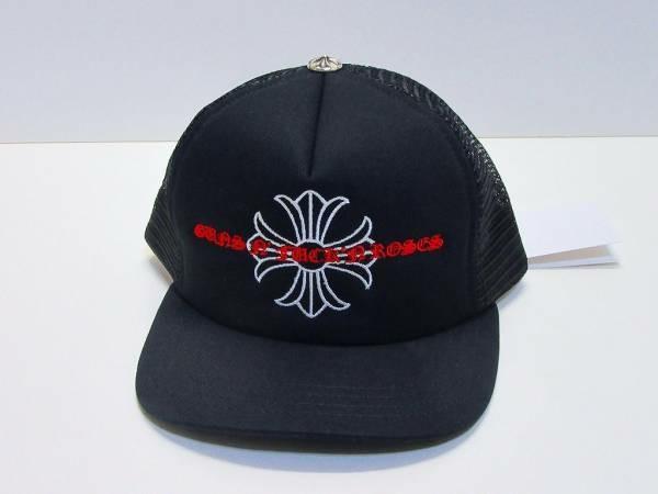 10b13b34456 Chrome Hearts Guns   Roses Cap Black Authentic