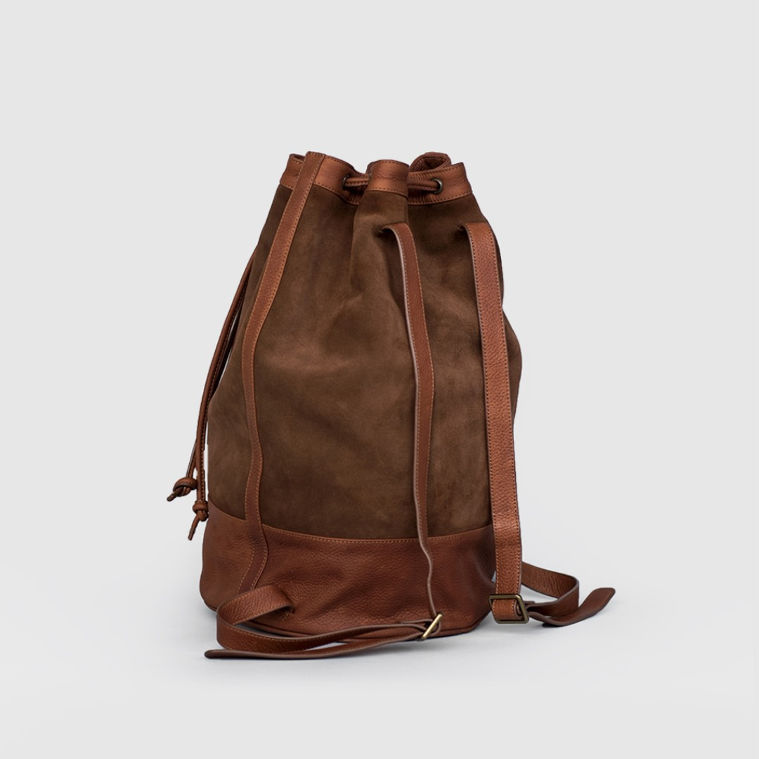 09a98237e29 Cincinati Suede Bucket Backpack, Luxury, Bags & Wallets, Backpacks on  Carousell