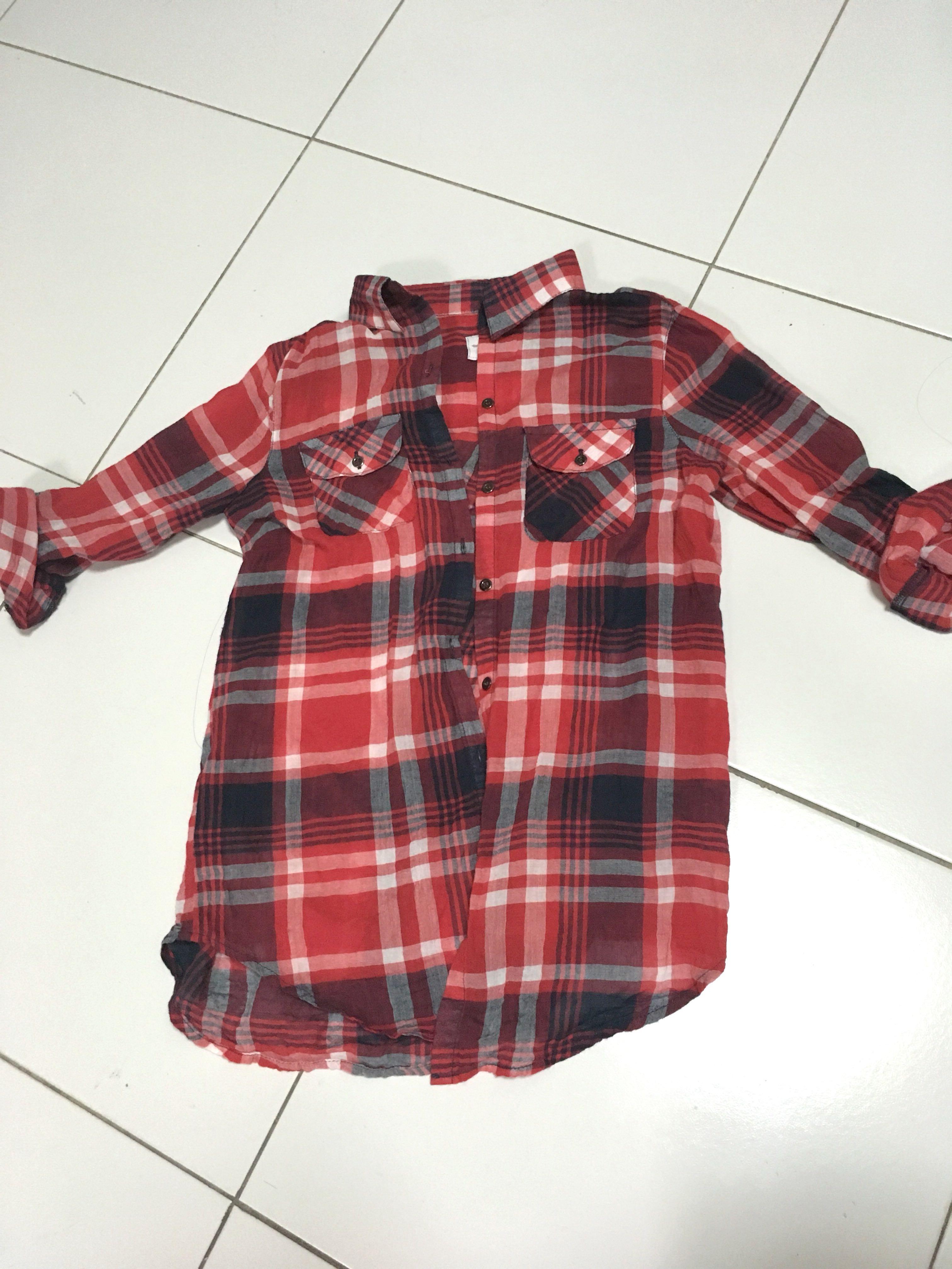 0040420e636 Cotton On Checkered Red Shirt