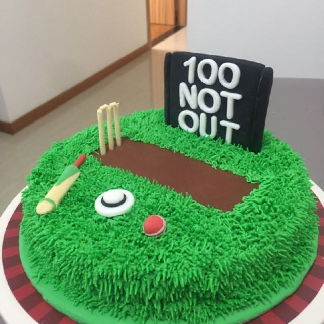 Cricket Theme Cake Customised Birthday Food Drinks Baked Goods On Carousell