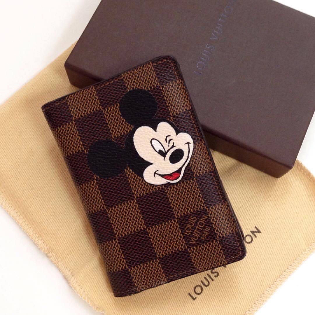 Customize Lv Wallet X Mickey