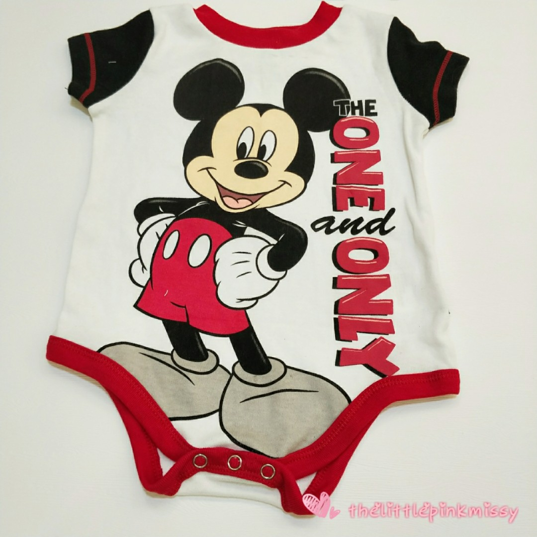 32f3252eb Disney Mickey Mouse Baby Romper, Babies & Kids, Babies Apparel on ...