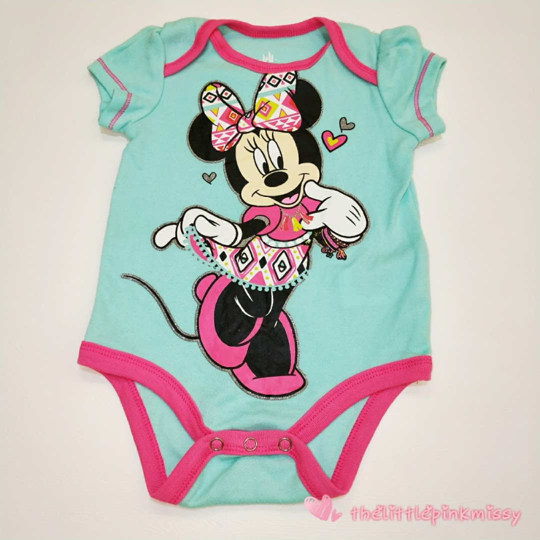 6428ab1bc Disney Minnie Mouse Baby Romper, Babies & Kids, Babies Apparel on ...