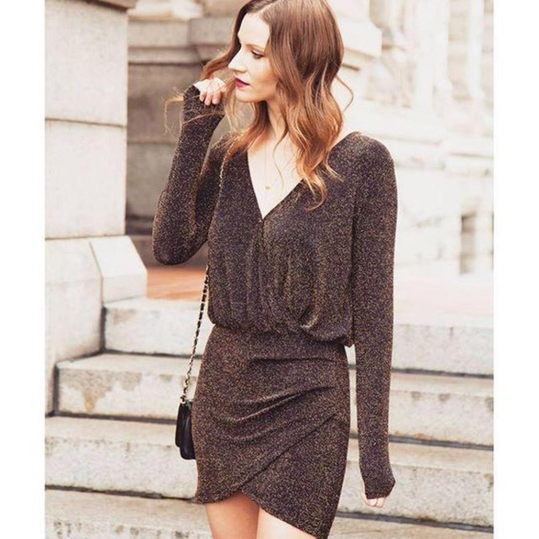 Dynamite Black & Gold Dress